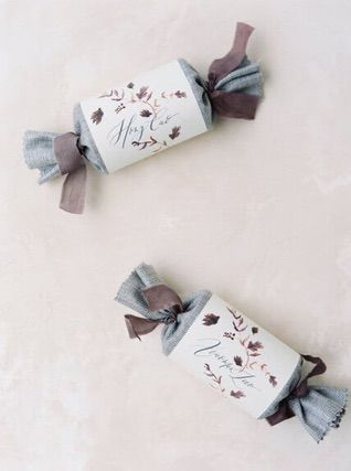 Two candy wrapper shaped gifts