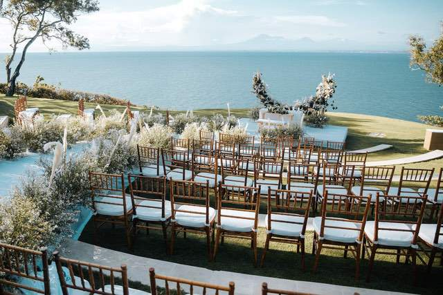 The grass amphitheatre wedding location of Ayana Resort and Spa's Sky venue